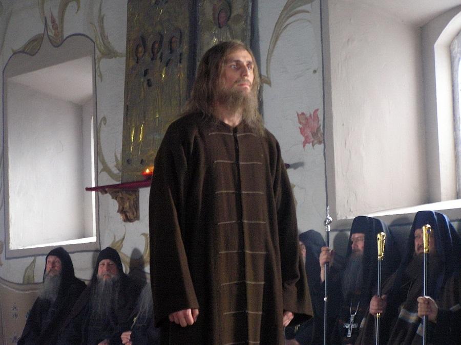 Протопоп Аввакум (Александр Коротков) на съемках фильма