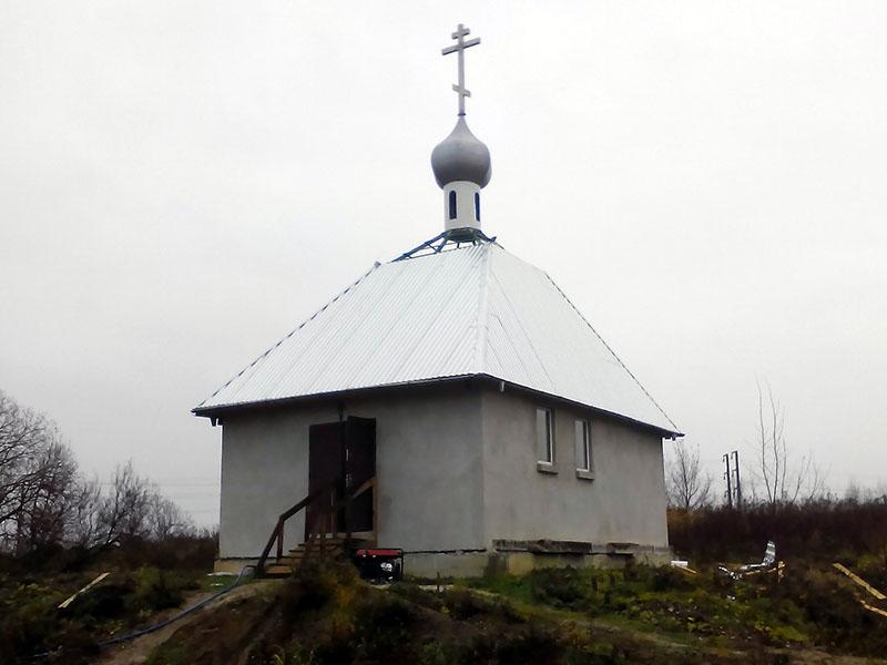 Часовня на месте строящегося Благовещенского храма РПсЦ в Калининграде