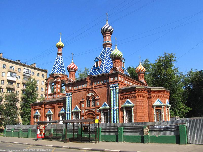 Храм Тихвинской иконы Пресвятой Богородицы на Хавской. Москва