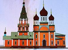 Строящийся храм святителя Николы Чудотворца. Арзамас