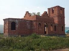 Строящийся древлеправославный храм. Большой Куналей