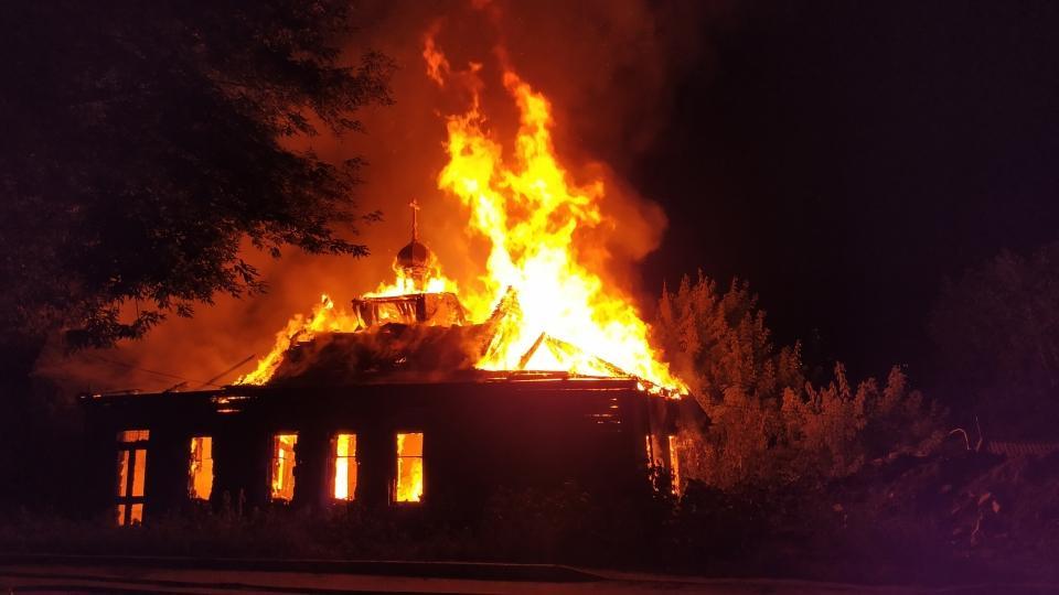 Вцентре Саратова сгорел старообрядческий храм