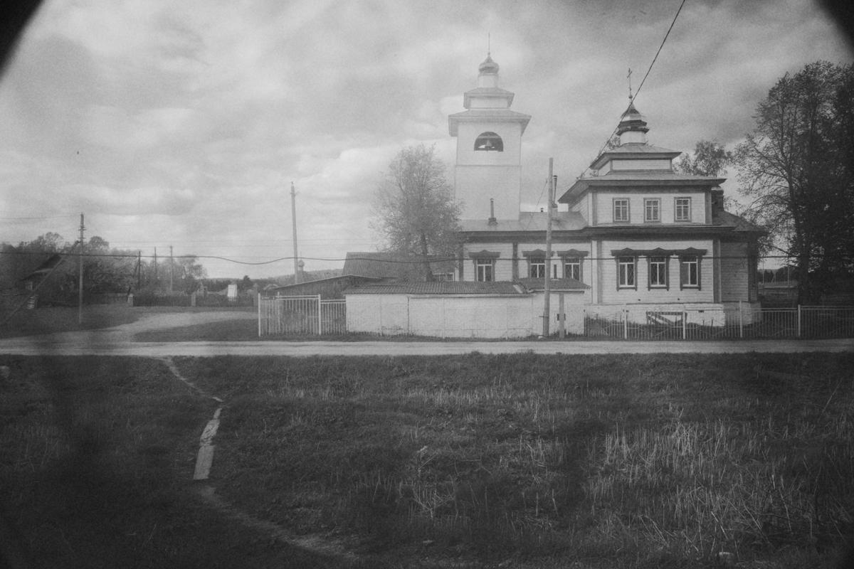 Старообрядческий храм во имя Св. Троицы в селе Пристань, где Федор побывал в 2019 году