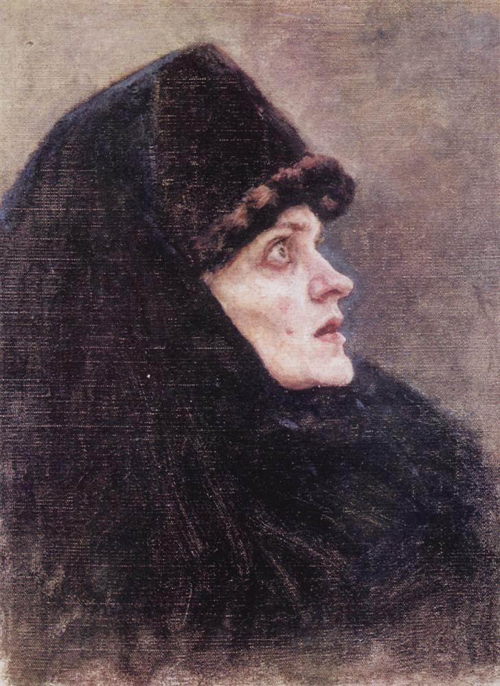 В. И. Суриков. Боярыня Морозова. Портрет