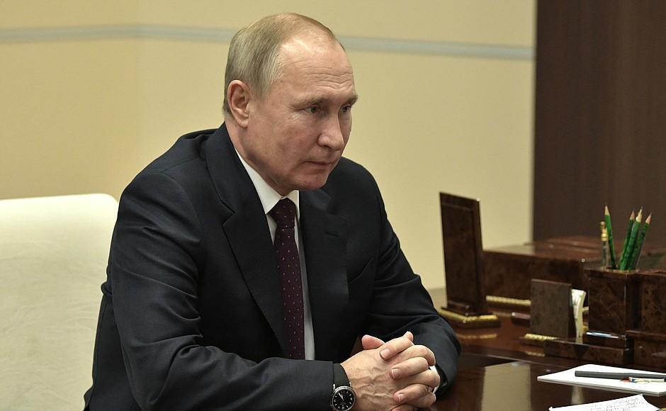 Владимир Путин на встрече со старообрядческим митрополитом