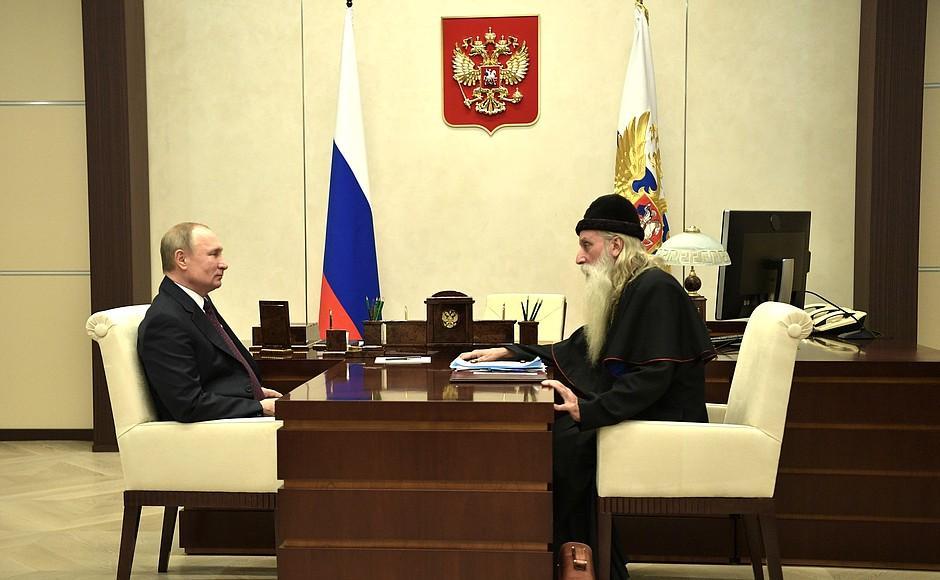 В. Путин и митрополит Корнилий