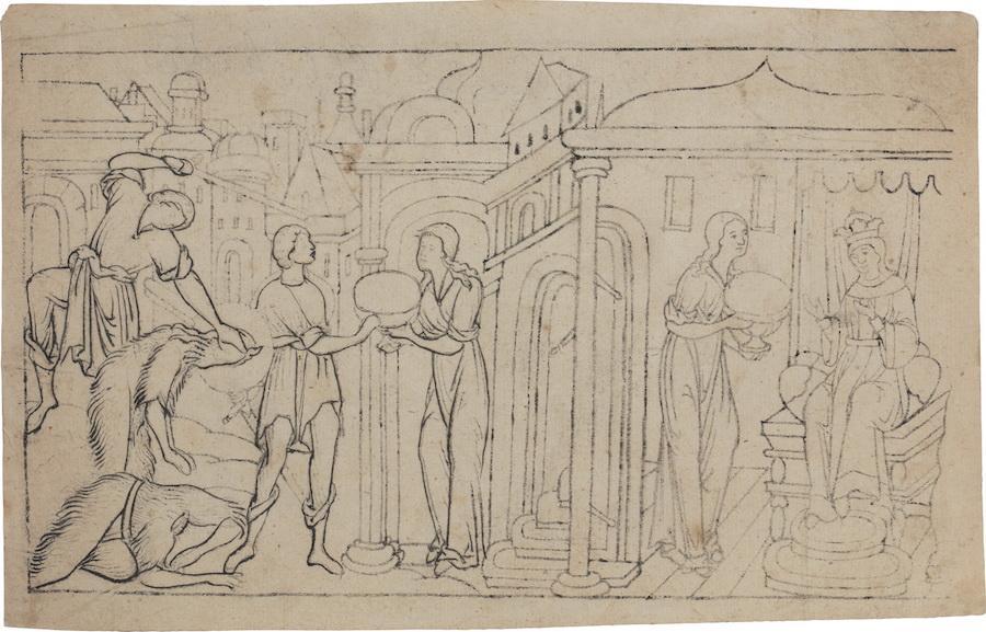 Иконный образец «Сцены из Жития Иоанна Предотечи». ЦМиАР, КП-5790
