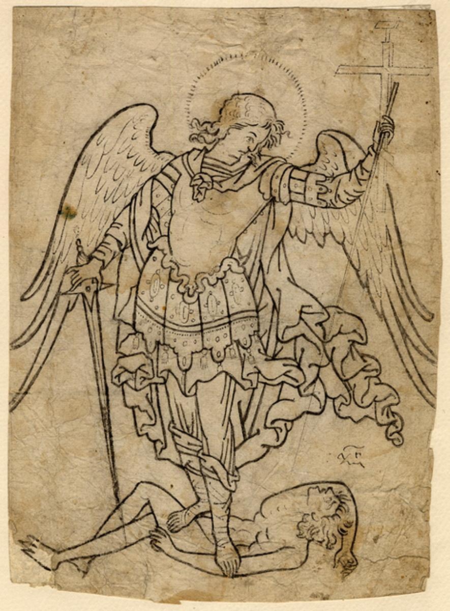 Иконный образец «Архангел Михаил повергает сатану»