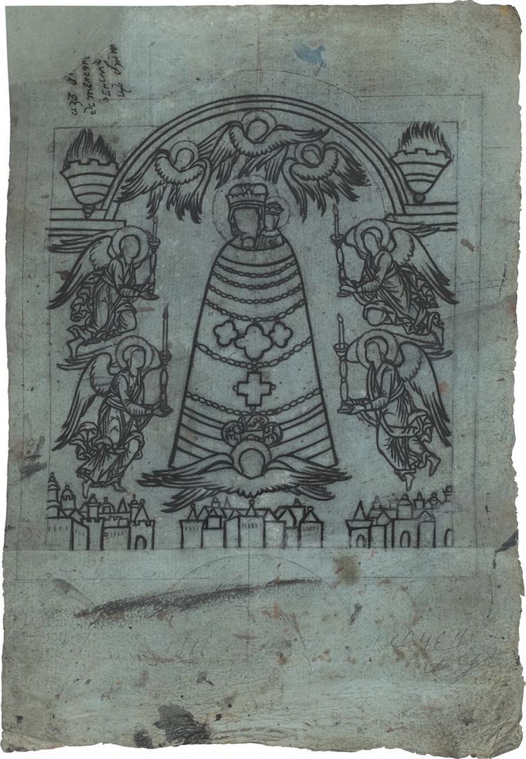 Иконный образец «Богоматерь прибавление ума»