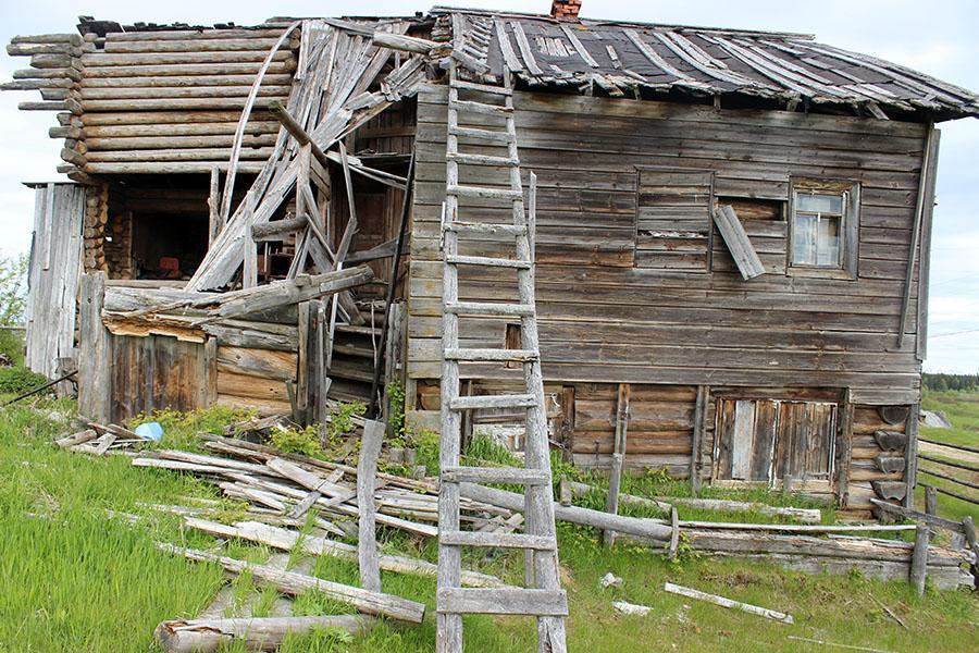 Дом купцов Логиновых разрушается