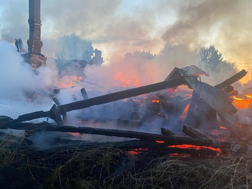 Вдеревне Рытово Владимирской области сгорел старообрядческий храм